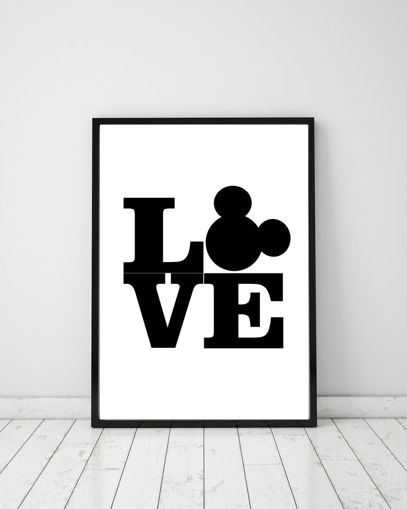 DISNEY LOVE - Papercut Prints