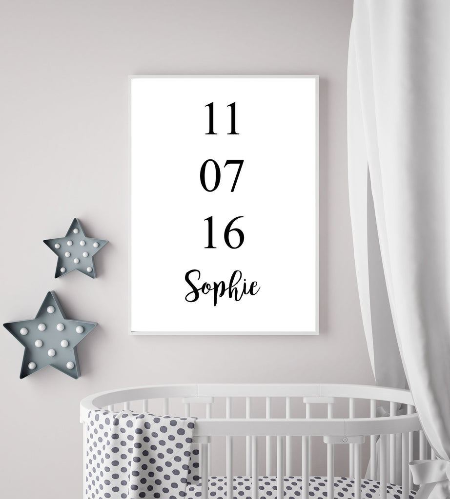 Personalised Birth Date - Papercut Prints