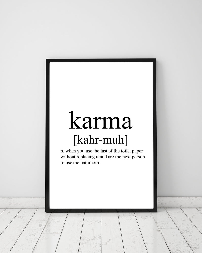 Karma Definition - Papercut Prints