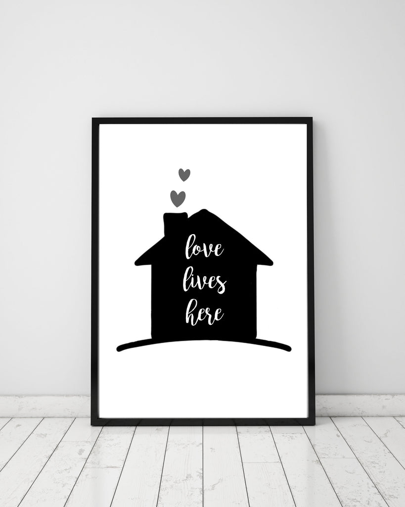 Love lives here - Papercut Prints