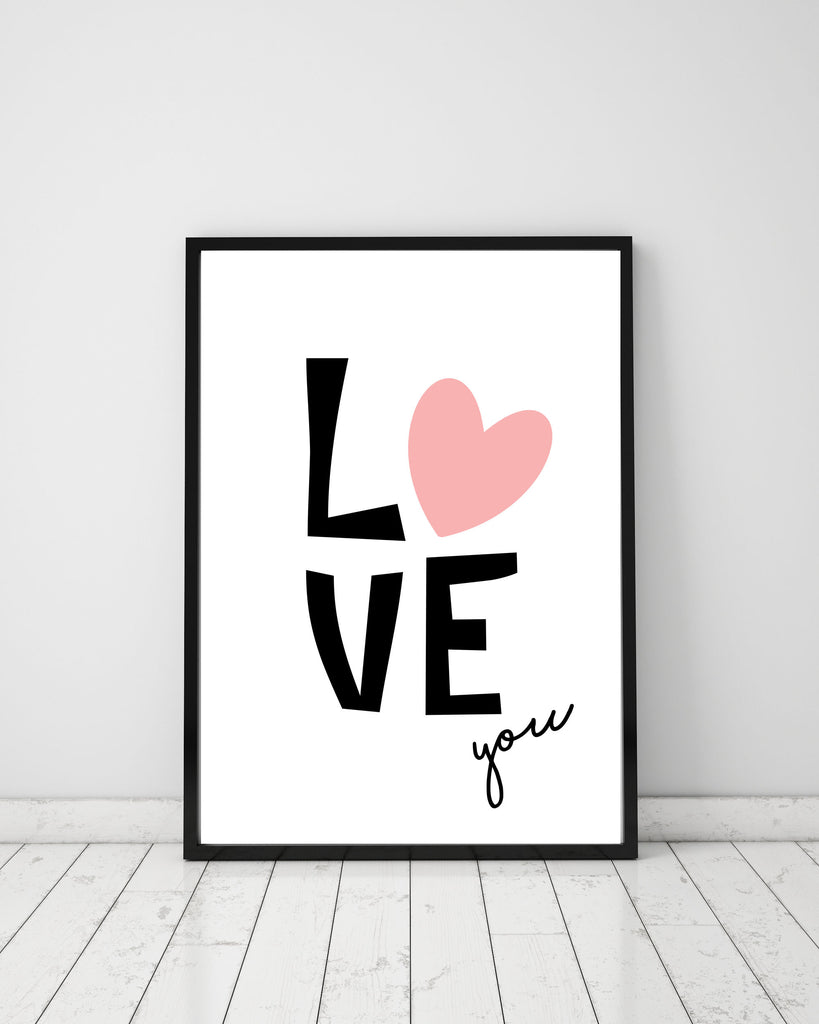 Love you - Papercut Prints