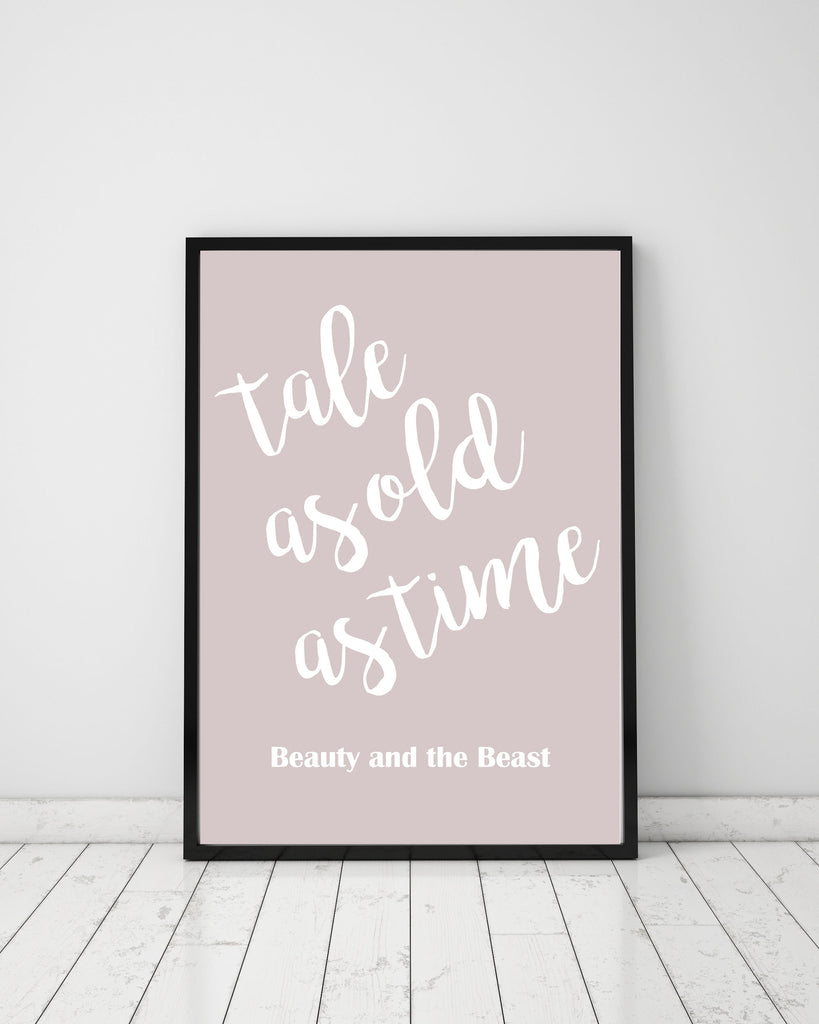 Tale as old as time - Papercut Prints