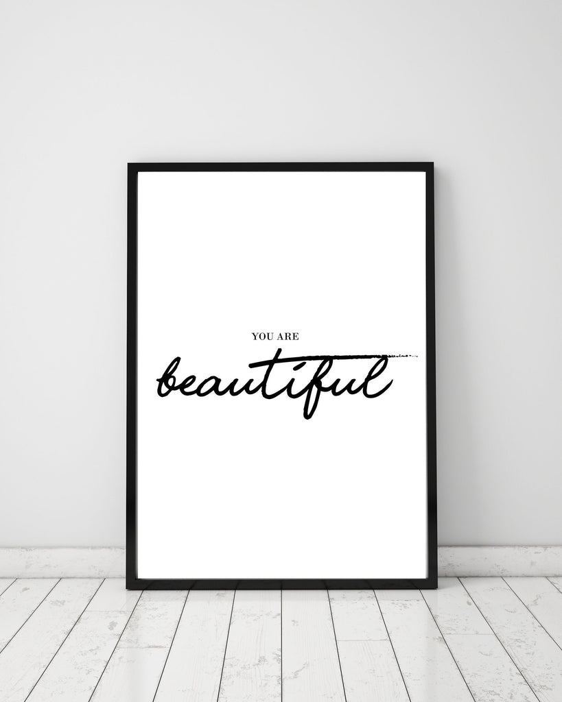 You are beautiful - Papercut Prints