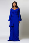THE ALESSANDRA DRESS IN COBALT BLUE