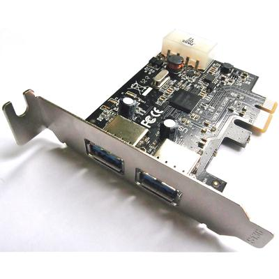 Dynamode PCI Express 2 x USB 3.0 Port Card Low Profile