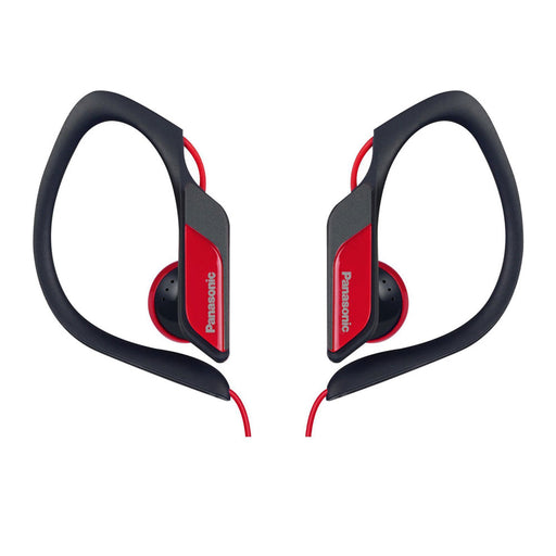 Panasonic  RPHS34/RED  -  Water & Sweat Resistant Sports Earbud Headphones - Red