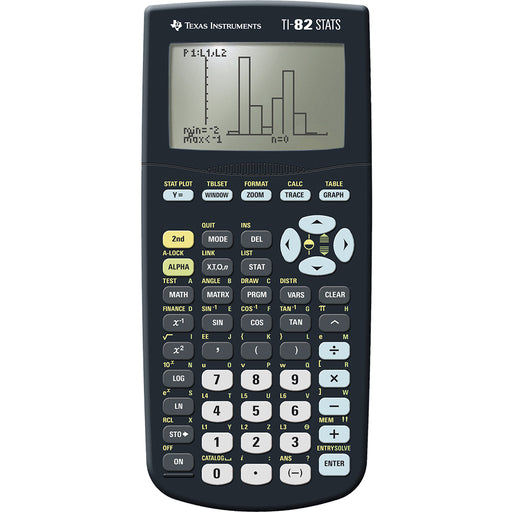 Texas Instruments  82STTBL4E5  -  TI82 STATS Graphic Calculator for Maths & Science