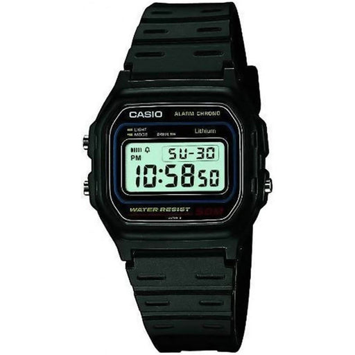 Casio  W-59-1VQES  -  Casual Digital Watch 50M Water Resistant with Black Resin Strap