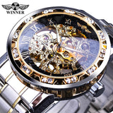 stainless steel mens watch mechanical gear stylish