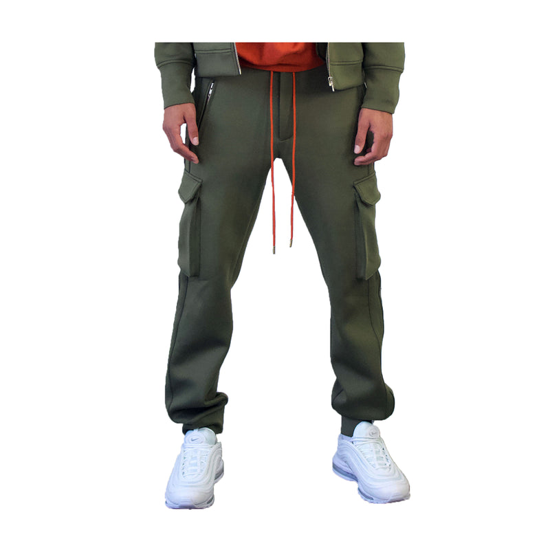 SL Jogger in Olive Green Neoprene