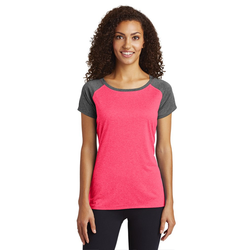 LST362 Sport-Tek® Ladies Heather-On-Heather Contender™ Scoop Neck Tee