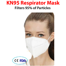 PPE - KN95 RESPIRATOR MASK / 1 FACE MASK (4647627128910) (4654675886158)