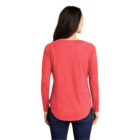 LST400LS Sport-Tek ®Long Sleeve Tri-Blend Wicking Scoop Neck Raglan Tee (4447363498062)
