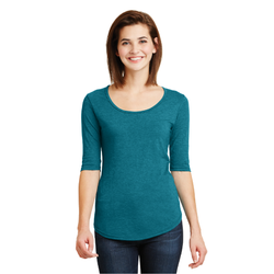 6756L Anvil® Ladies Tri-Blend Deep Scoop Neck 1/2-Sleeve Tee (1451981570090)