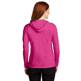 887L Anvil® Ladies 100% Ring Spun Cotton Long Sleeve Hooded T-Shirt (1451714936874)