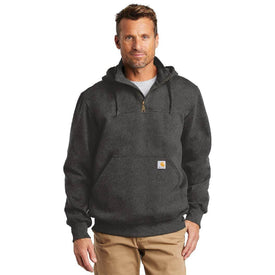 CT100617 Carhartt ® Rain Defender ® Paxton Heavyweight Hooded Zip Mock Sweatshirt (4817570562126)