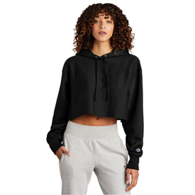 RW01W Champion ® Women's Reverse Weave ® Cropped Cut-Off Hooded Sweatshirt (4820589412430)
