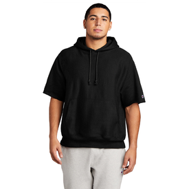 S101SS Champion ® Reverse Weave ® Short Sleeve Hooded Sweatshirt (4819111313486)