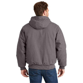 CSJ41 CornerStone® Washed Duck Cloth Insulated Hooded Work Jacket (1543395868714)