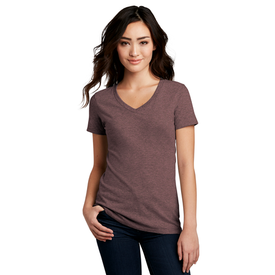 DM1190L District ® Women's Perfect Blend ® V-Neck Tee (1379326427178)
