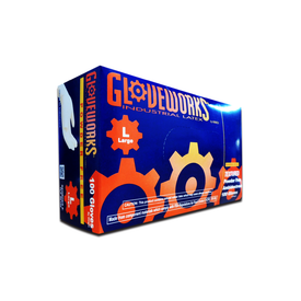 Gloveworks Industrial Latex, Textured, Ambidextrous, Disposable, Box of 100 (4640819576910)