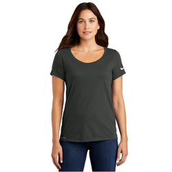 NKBQ5234 Nike Ladies Dri-FIT Cotton/Poly Scoop Neck Tee (1843995836458)