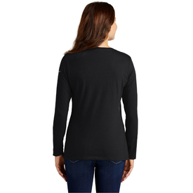 NKBQ5235 Nike Ladies Core Cotton Long Sleeve Scoop Neck Tee (4788663812174)