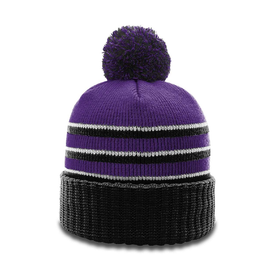 Richardson 134 Stripe Pom Beanie With Cuff (4786949193806)
