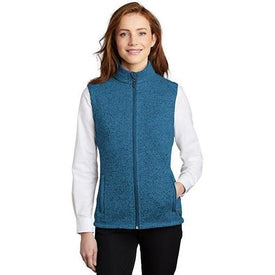 L236 Port Authority ® Ladies Sweater Fleece Vest (4401727471694)