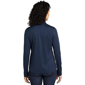 LK584 Port Authority ® Ladies Silk Touch ™ Performance 1/4-Zip (4401793695822)