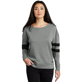 LNEA513 New Era ® Ladies Tri-Blend Fleece Varsity Crew (4380451242062)