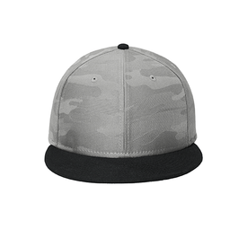 NE407 New Era ® Camo Flat Bill Snapback Cap (4380612296782)