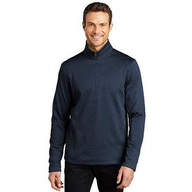 F248 Port Authority ® Diamond Heather Fleece 1/4-Zip Pullover (4401494523982)