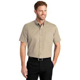SP18 CornerStone® - Short Sleeve SuperPro™ Twill Shirt (1555985596458)