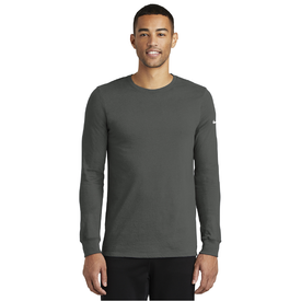 NKBQ5230 Nike Dri-FIT Cotton/Poly Long Sleeve Tee (1843990757418)