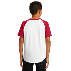YT201 Sport-Tek® Youth Short Sleeve Colorblock Raglan Jersey