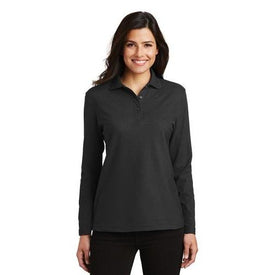 L500LS Port Authority® Ladies Silk Touch™ Long Sleeve Polo (846093123626)