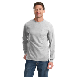 PC61LSP Port & Company® - Long Sleeve Essential Pocket Tee (1491707559978)