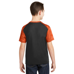 YST371 Sport-Tek® Youth CamoHex Colorblock Tee