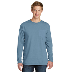06ea94f8 Quick View · PC099LSP Port & Company® Pigment-Dyed Long Sleeve Pocket ...