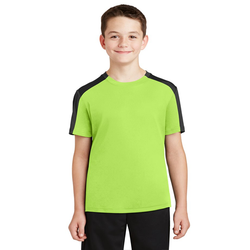 YST354 Sport-Tek® Youth PosiCharge® Competitor™ Sleeve-Blocked Tee