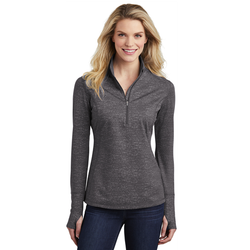 LST855 Sport-Tek ® Ladies Sport-Wick ® Stretch Reflective Heather 1/2-Zip Pullover