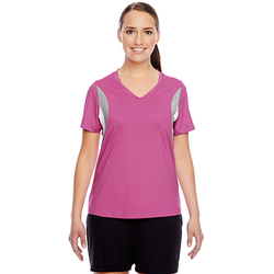 TT10W Team 365 Ladies' Short-Sleeve Athletic V-Neck Tournament Jersey (1758301487146)