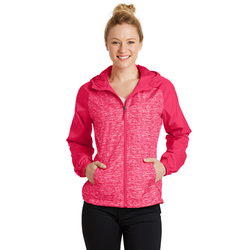 LST40 Sport-Tek® Ladies Heather Colorblock Raglan Hooded Wind Jacket (1544532918314)