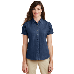 LSP11 Port & Company® - Ladies Short Sleeve Value Denim Shirt