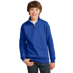 995Y JERZEES® Youth NuBlend® 1/4-Zip Cadet Collar Sweatshirt (1588459995178)