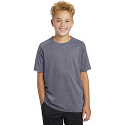 YST400 Sport-Tek ® Youth PosiCharge ® Tri-Blend Wicking Raglan Tee