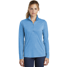 LST407 Sport-Tek ® Ladies PosiCharge ® Tri-Blend Wicking 1/4-Zip Pullover (1870314045482)