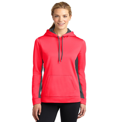 LST235 Sport-Tek® Ladies Sport-Wick® Fleece Colorblock Hooded Pullover