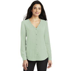 LW700 Port Authority ® Ladies Long Sleeve Button-Front Blouse